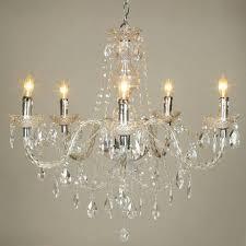 Chandelier Crystal Parts Crystal Acrylic Chandelier 5 Lights At Lightingbox Com Canada