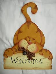 cute cat welcome sign artesanato pinterest country cat and