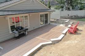 supporting a deck with a retaining wall professional deck