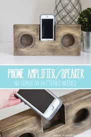 Homemade Phone Stand by Diy Wooden Phone Amplifier Speaker No Cord Or Batteries Needed