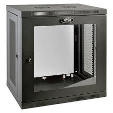 smartrack 12u low profile switch depth wall mount rack enclosure