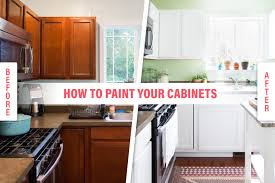 how to paint brown cabinets how to paint wood kitchen cabinets with white paint kitchn