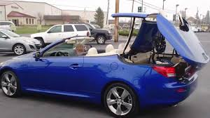 lexus is350 convertible how to operate the convertible top on your lexus is youtube