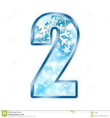 winter alphabet number 2 two royalty free stock photography