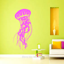 home decor wall art stickers jellyfish sea scuba ocean animals wall art sticker decal home diy