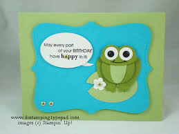 hoppy birthday punch art frog by dostamping cards and paper