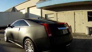 matte black cadillac cts v cadillac cts matte black car wrap fort lauderdale miami florida