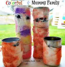 Mummy Crafts For Kids - halloween crafts for kids recycled colorful family mummies