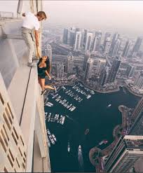 model viki odintcova the height of stupidity on 307m dubai tower
