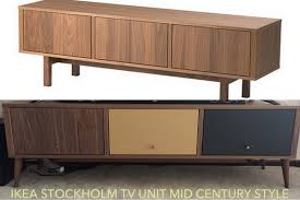 Tv Tables Wood Modern Ikea Stockholm Mid Century Tv Stand Redo Ikea Hackers Ikea Hackers
