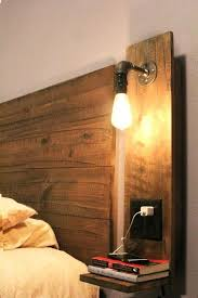 diy headboard with lights headboards with lights and shelves reclaimed wood rustic cottage