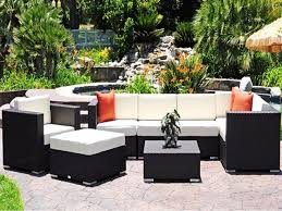 White Resin Wicker Patio Furniture Black And White Patio Cushions Cushions Decoration