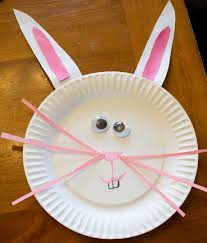 paper plate easter bunny craft great for toddlers and