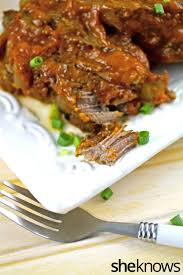 slow cooker sunday pork ribs with spicy peach bbq sauce couldn u0027t