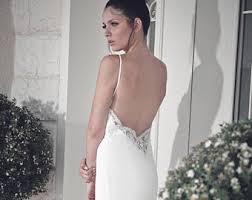 wedding dress open back wedding dresses etsy