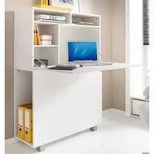 secretaire bureau bureau secrétaire 4 compartiments ouverts 1 porte abattante blanc