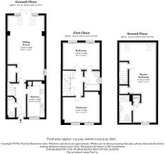 estate agent floor plans 3 bedroom end of terrace house for sale in locksbridge road