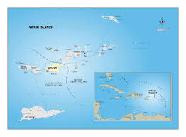 map usvi large detailed political map of islands us islands