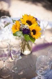 Centerpieces With Sunflowers by Wildflower Sunflower Babys Breath Wedding Bouquets Centerpieces