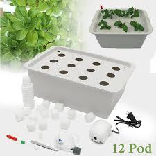 12 holes plant site hydroponic garden pots planters system indoor