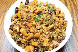 thanksgiving side dish cranberry persimmon couscous csmonitor