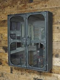 Storage Wall Cabinets With Doors Industrial Metal U0026 Glass Doors Wall Cabinet Shelf Storage Display