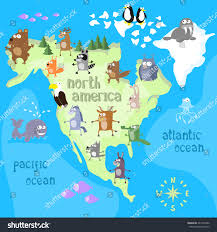 Map Of Nirth America by Concept Design Map North American Continent Stock Vector 447205402