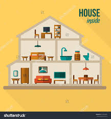 Rooms In A House Clipart Inside House Outline Collection