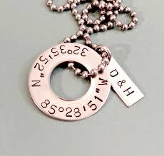 custom necklaces for couples personalized latitude longitude necklace custom mens
