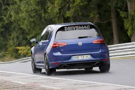 golf r volkswagen vw golf r tries new oval tailpipes on the nürburgring do we hear