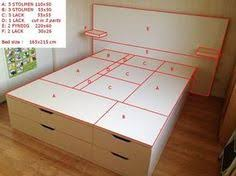 Building A Platform Bed With Drawers by Diy Queen Size Storage Bed Includes Cutting Plans U0026 Directions