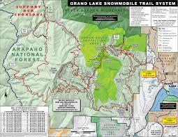 grand map trail maps grand lake trailgroomers