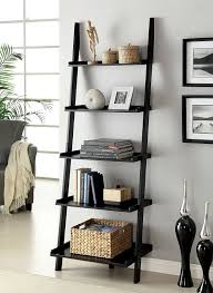 Bookcase With Ladder Amazon Com Furniture Of America Klaudalie 5 Tier Ladder Style