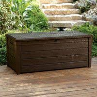 extra large deck box storage ideas cedar walls with a resin top