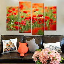 poppy home decor drop shipping modern canvas painting wall art print oil painting