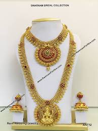 wedding jewellery for rent bridal jewelry for rent swarnam bridal collection home