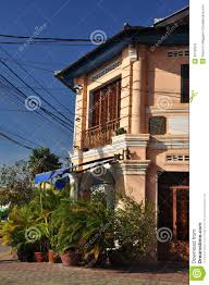 kampot french colonial architecture cambodia stock photo image