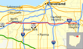 Map Cleveland Ohio by Ohio State Route 17 Wikipedia