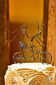 cake topper just married tandem bike ornament 40 00 via etsy
