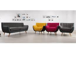 fauteuil et canapé canapé 3 places et fauteuil en tissu serti 3 coloris