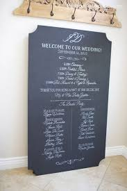 chalkboard wedding program template unframed large custom chalk sign buffet dinner menu