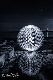 Mesmerizing Lighting Settings Beach Ball Lightpainting Photography Taken In A Single Long