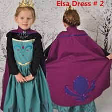 Anna Elsa Halloween Costumes Princess Elsa Anna Frozen Dressup Costume Dress Ball Gown Toddler