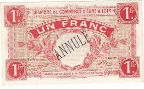 chambre de commerce de l eure 1 franc 1 oct 1915 chambre de commerce d eure et loir neuf annule