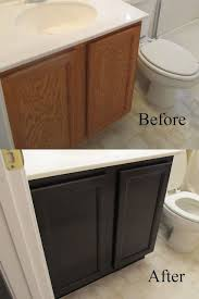 Refurbish Bathroom Vanity Best 25 Painting Laminate Cabinets Ideas On Pinterest Paint