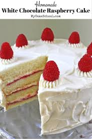 white chocolate raspberry cake from scratch my cake