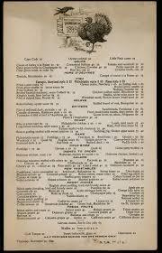 14 vintage thanksgiving menus 1895 1949 vintage thanksgiving