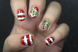 how the grinch stole christmas nail art by manicabana on