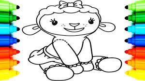 draw lambie doc mcstuffins coloring pages kids