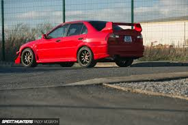 mitsubishi evo red an irish evolution speedhunters